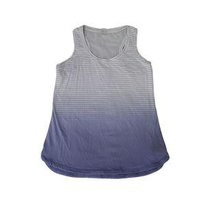 Calia Carrie Underwood purple stripe ombre top